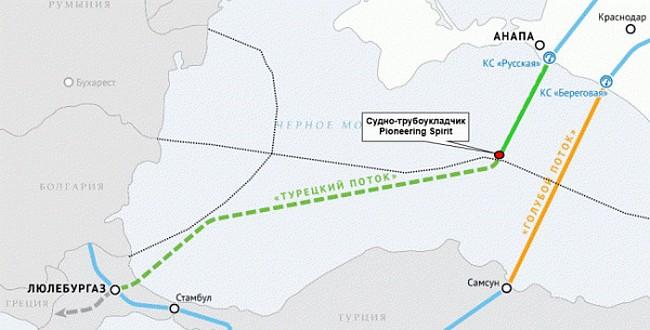 «Турецкий поток» дотянули до Турции