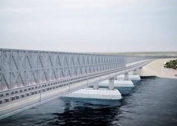 Установлена первая морская опора Керченского моста