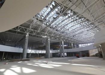 Строители завершили возведение здания нового терминала аэропорта Симферополь
