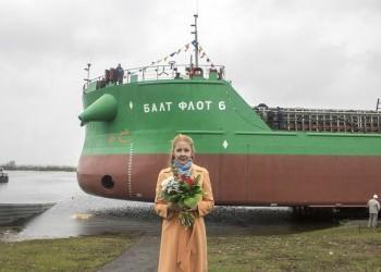 Окская судоверфь спустила на воду седьмой танкер проекта RST54 «Балт Флот 6»