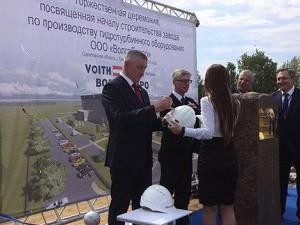 Заложен символический камень в основание нового завода в Балаково