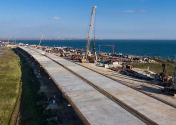 Стройка Крымского моста вышла на пиковую мощность