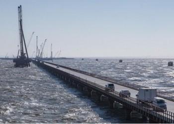 На крымском мосту выполнили годовой план по возведению опор