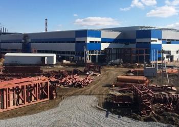 Ход строительства нового металлургического завода в Тульской области