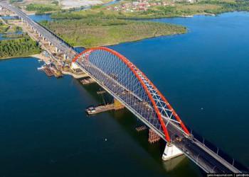 В Новосибирске открыт новый мост с самым большим арочным пролетом в СНГ