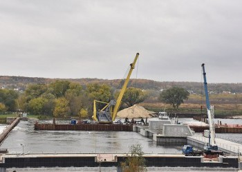Начался второй этап строительства плотины в Белоомуте