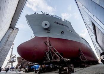На Невском ССЗ состоялась выкатка на открытый стапель танкера «Академик Пашин»