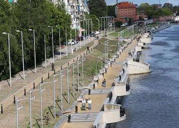 В Калининграде открыли первую очередь благоустроенной набережной Адмирала Трибуца