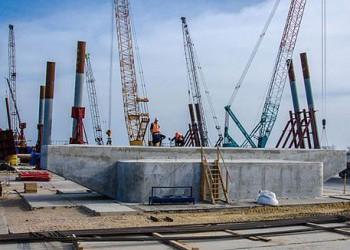 Готова первая опора Керченского моста