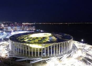 На стадионе «Нижний Новгород» закончили монтаж кровли