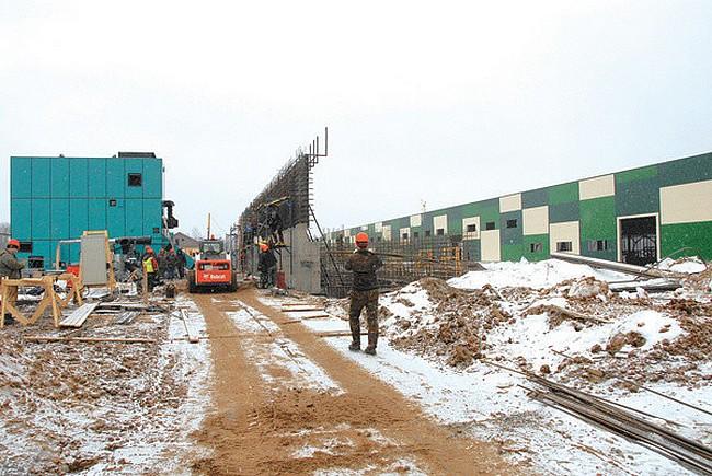 строительство завода апрель 2017 г