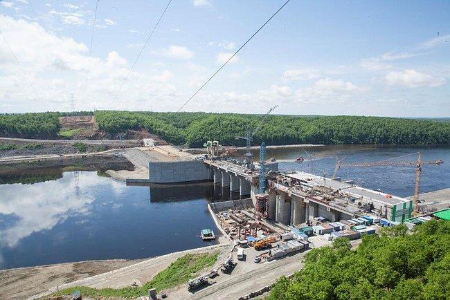 Плотина Нижне-Бурейской ГЭС
