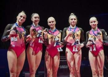Российские спортивные гимнастки и синхронистки завоевали золото на чемпионате Европы